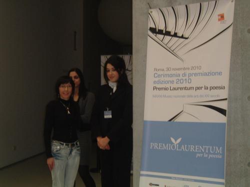 Aurora Cantini al Premio Letterario Laurentum 2010, Roma Museo MAXXI