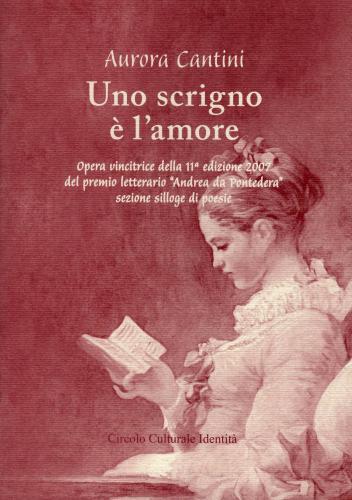 """Copertina libro poesie """"Uno scrigno è l'amore"""" di Aurora Cantini"""