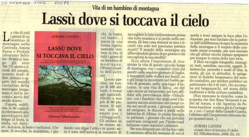 INCONTRO CON L'AUTORE: Aurora Cantini Libreria Mondadori Lovere, Lassù dove si toccava il cielo