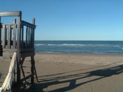 Riccione, spiaggia di fine estate