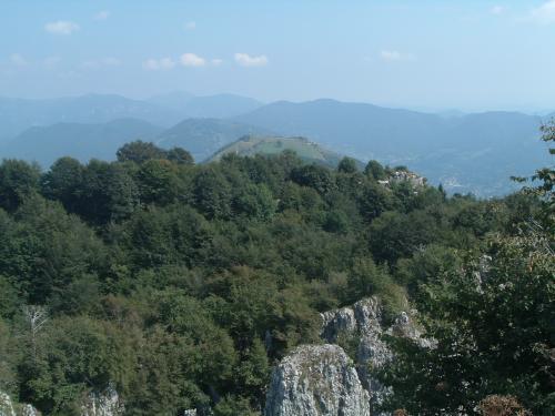La Valle Seriana dalla vetta della Cornagera