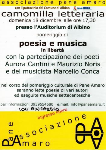 i poeti Aurora Cantini e Maurizio Noris Albino